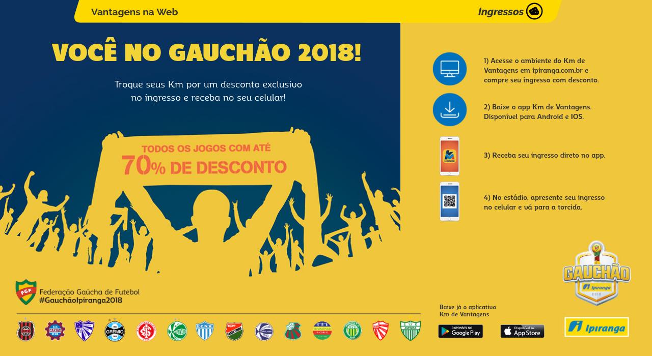 3de3a6f40f Gauchão - Km de Vantagens Janeiro 2018